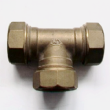 Brass Compression MDPE Alkathene Equal Tee 25mm - 18502500